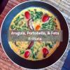 Arugula Portobello & Feta Frittata