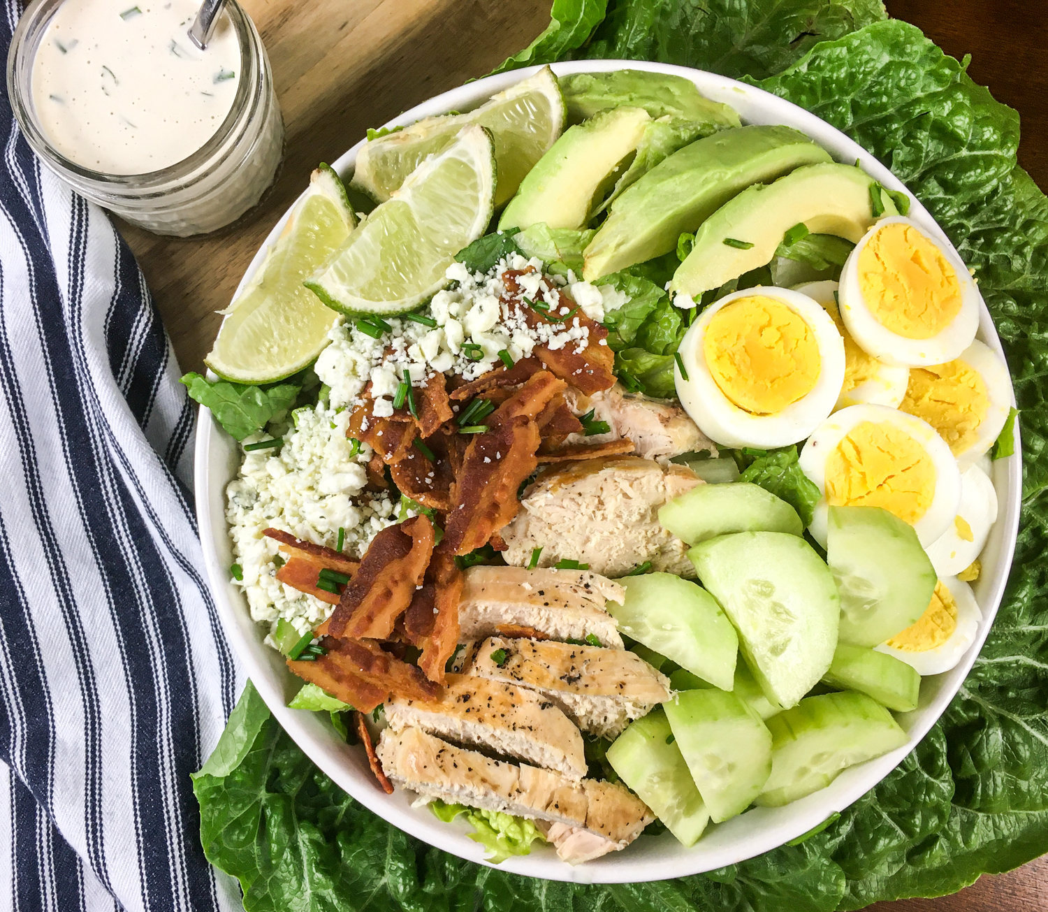 KETO COBB SALAD WITH HOMEMADE RANCH DRESSING