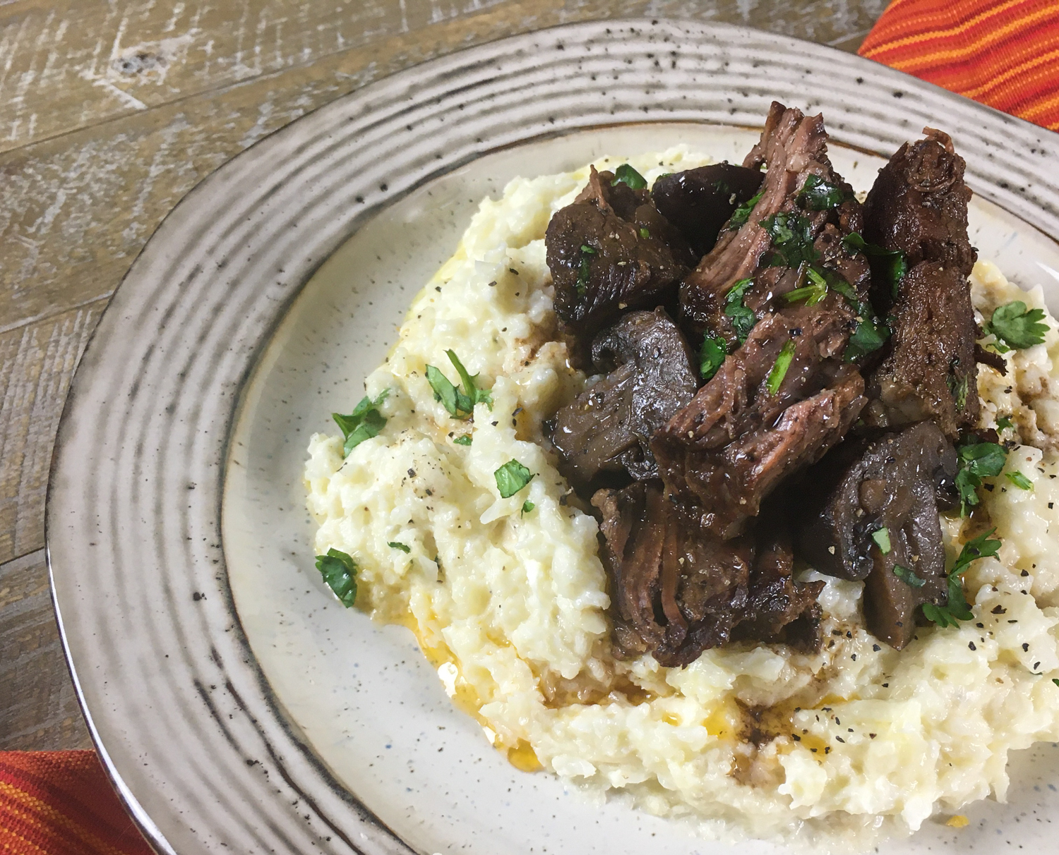 KETO POT ROAST AND PORTOBELLOS