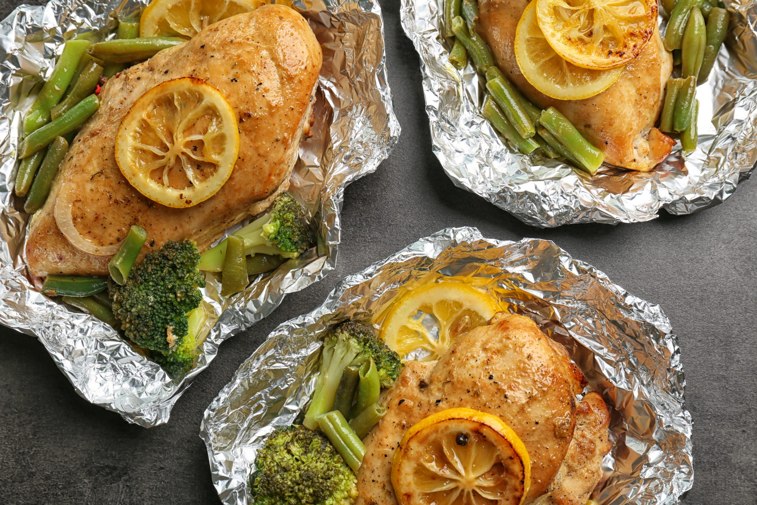 LEMON PEPPER CHICKEN FOIL PACKETS WITH BROCCOLI