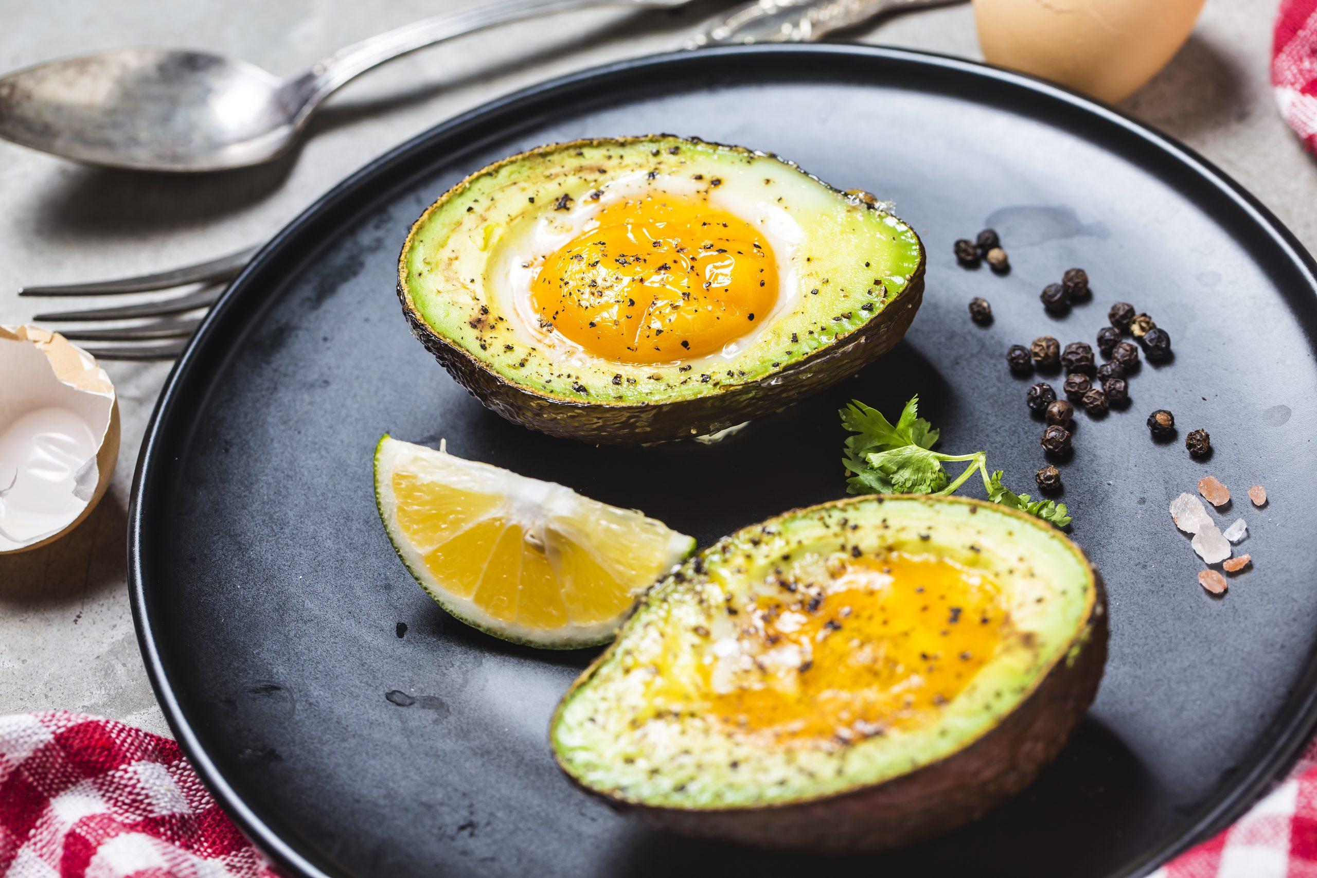 Keto Baked Avocado, Egg & Smoked Salmon