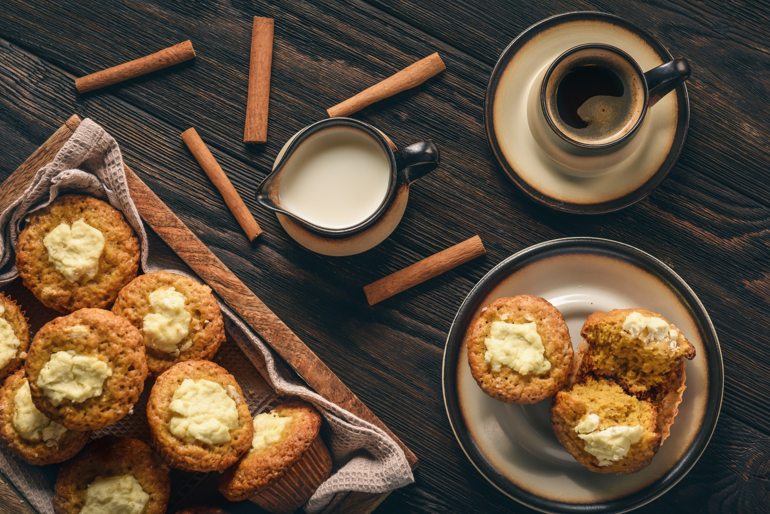Keto Cream Cheese Pumpkin Muffins
